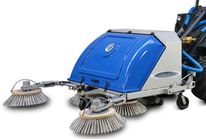 Mini loader sweeper attachment